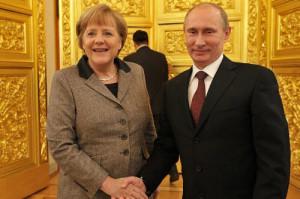 プーチン氏とメルケル氏